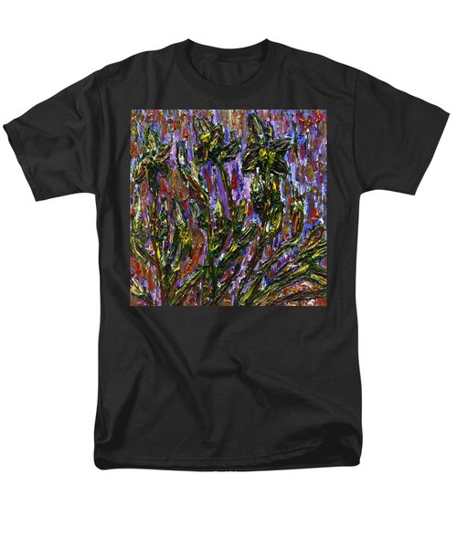 Men's T-Shirt  (Regular Fit) featuring the painting Irises Carousel by Vadim Levin