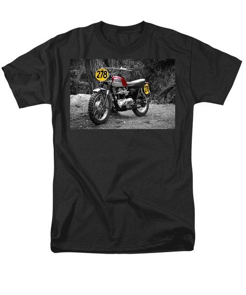 Isdt Triumph Steve Mcqueen Men's T-Shirt  (Regular Fit)