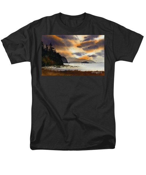 Men's T-Shirt  (Regular Fit) featuring the painting Islands Autumn Sky by James Williamson