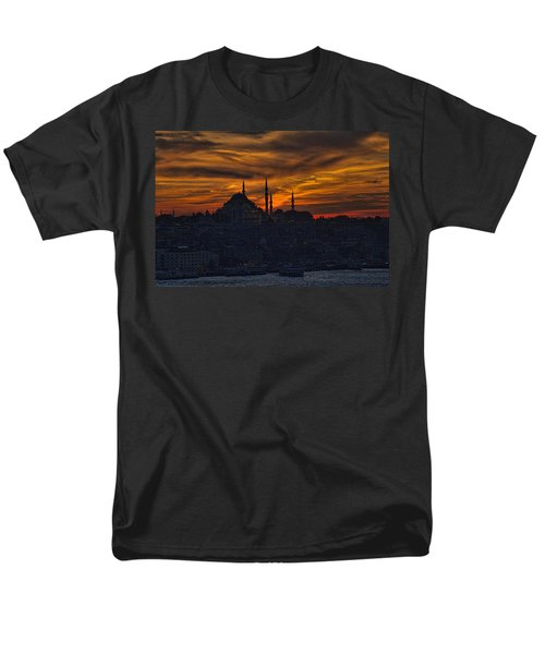 Istanbul Sunset - A Call To Prayer Men's T-Shirt  (Regular Fit) by David Smith