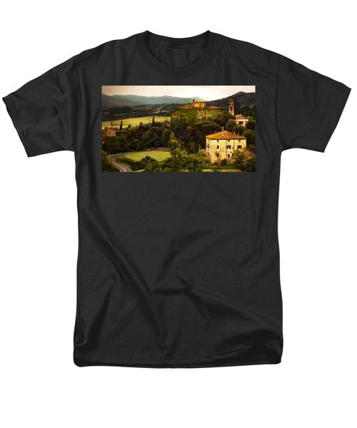 Italian Castle And Landscape Men's T-Shirt  (Regular Fit) by Marilyn Hunt