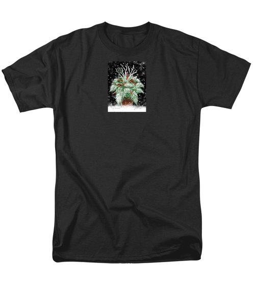 Men's T-Shirt  (Regular Fit) featuring the painting It's Snowing by Jean Pacheco Ravinski