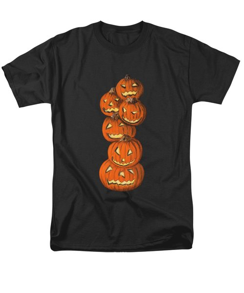 Jack-o-lantern Men's T-Shirt  (Regular Fit) by Anastasiya Malakhova