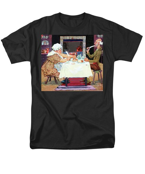 Jack Sprat Vintage Mother Goose Nursery Rhyme Men's T-Shirt  (Regular Fit) by Marian Cates