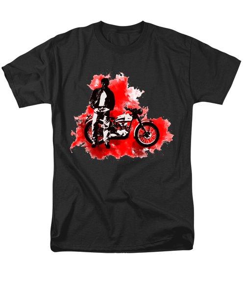 James Dean And Triumph Men's T-Shirt  (Regular Fit) by Marlene Watson