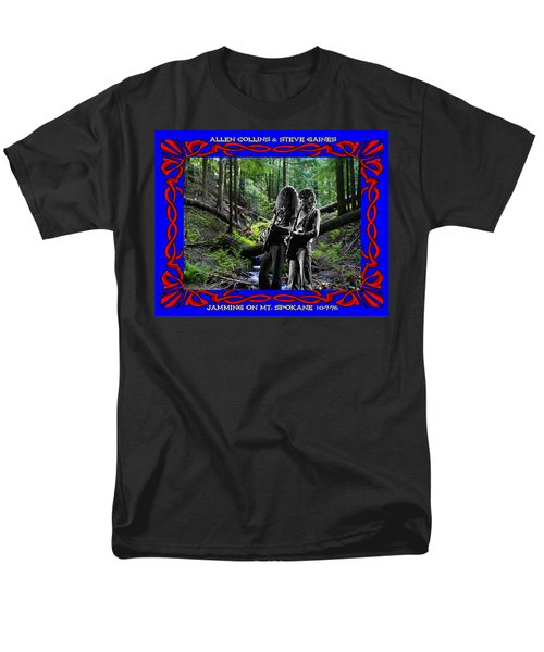 Men's T-Shirt  (Regular Fit) featuring the photograph Jamming On Mt. Spokane 1 by Ben Upham