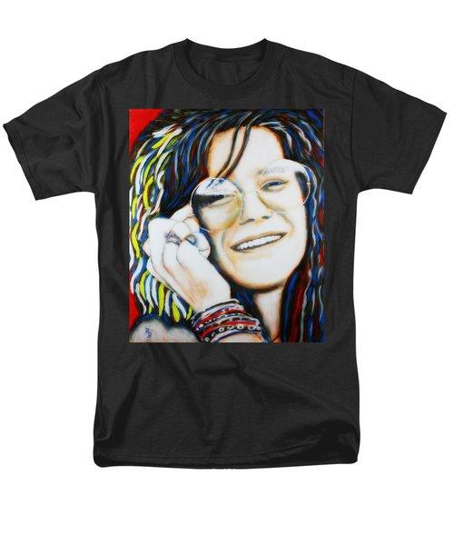 Janis Joplin Pop Art Portrait Men's T-Shirt  (Regular Fit) by Bob Baker