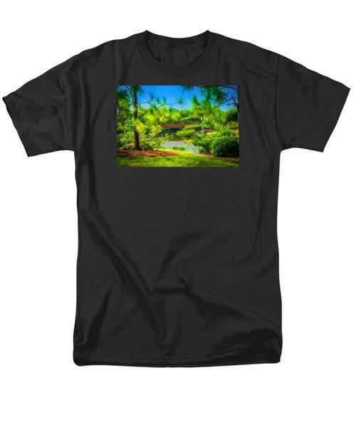 Japanese Gardens  Men's T-Shirt  (Regular Fit) by Louis Ferreira