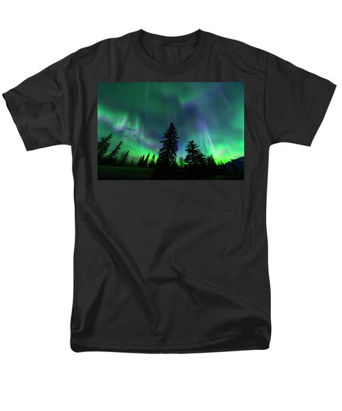Men's T-Shirt  (Regular Fit) featuring the photograph Jasper National Park Aurora by Dan Jurak
