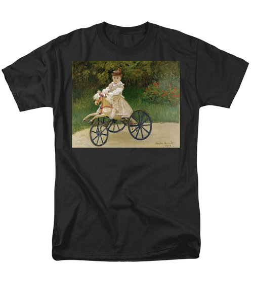 Men's T-Shirt  (Regular Fit) featuring the painting Jean Monet On His Hobby Horse           by Claude Monet