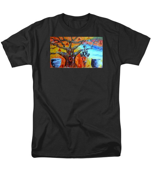 Men's T-Shirt  (Regular Fit) featuring the painting Jeanilia by Fania Simon