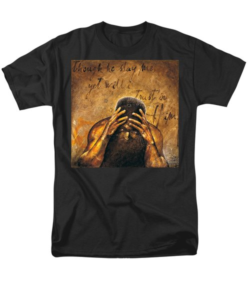 Men's T-Shirt  (Regular Fit) featuring the painting Job by Christopher Marion Thomas