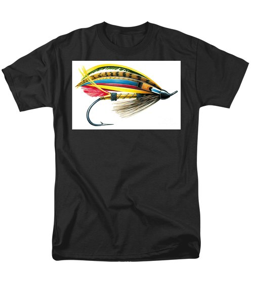 Men's T-Shirt  (Regular Fit) featuring the painting Jock Scott Fly by JQ Licensing Jon Q Wright