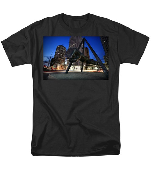 Joe Louis Fist Statue Jefferson And Woodward Ave. Detroit Michigan Men's T-Shirt  (Regular Fit) by Gordon Dean II