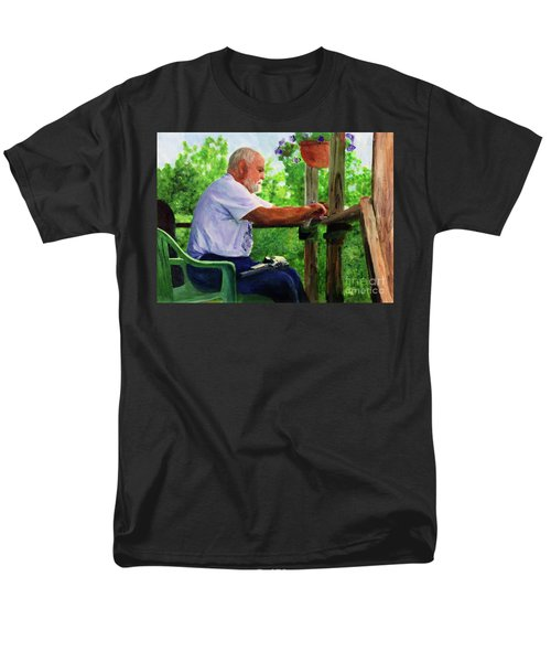 John Cleaning The Rifle Men's T-Shirt  (Regular Fit) by Donna Walsh