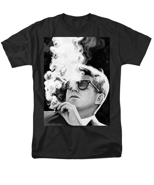 Men's T-Shirt  (Regular Fit) featuring the painting John F. Kennedy Artwork 1 by Sheraz A