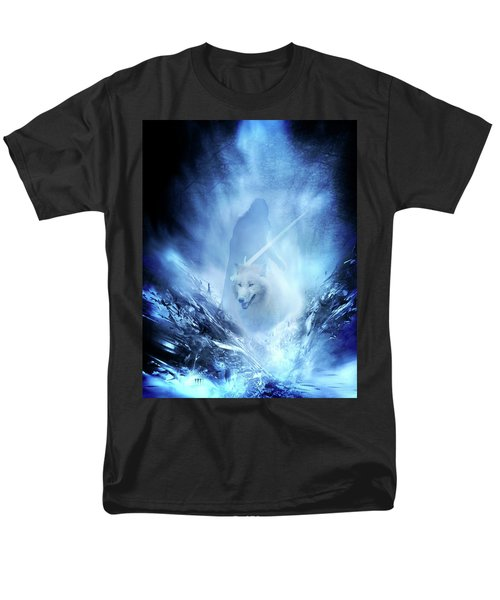 Jon Snow And Ghost - Game Of Thrones Men's T-Shirt  (Regular Fit) by Lilia D