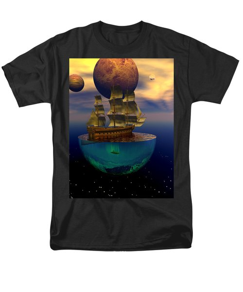 Men's T-Shirt  (Regular Fit) featuring the digital art Journey Into Imagination by Claude McCoy