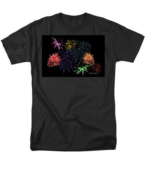 July Fireworks Montage Men's T-Shirt  (Regular Fit) by Terri Harper