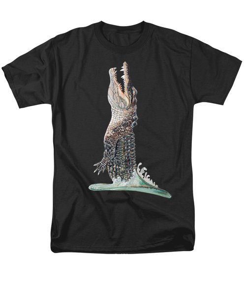 Jumping Gator Men's T-Shirt  (Regular Fit) by Jennifer Rogers
