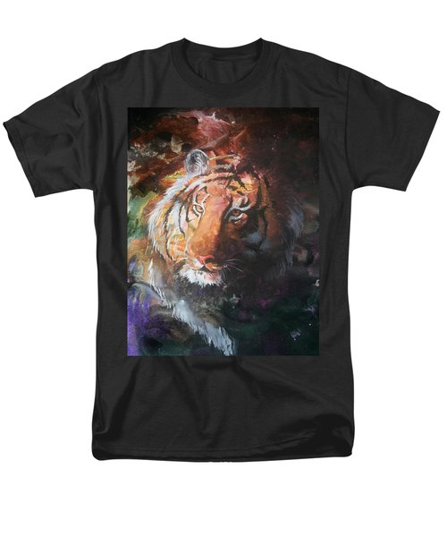 Men's T-Shirt  (Regular Fit) featuring the painting Jungle Tiger by Sherry Shipley