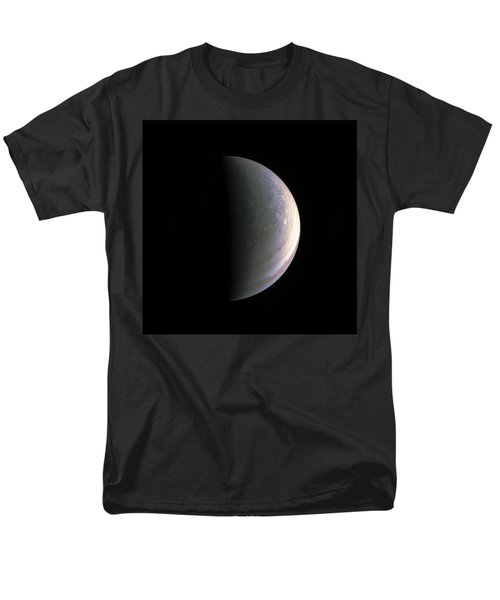 Men's T-Shirt  (Regular Fit) featuring the photograph Juno Closing In On Jupiter's North Pole by Nasa