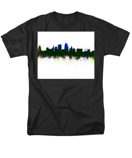 Kansas City Skyline Blue  Men's T-Shirt  (Regular Fit) by Enki Art