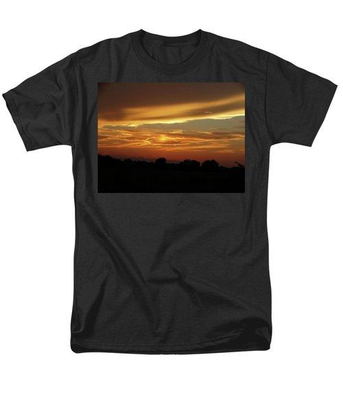 Kansas Summer Sunset Men's T-Shirt  (Regular Fit) by Rebecca Overton