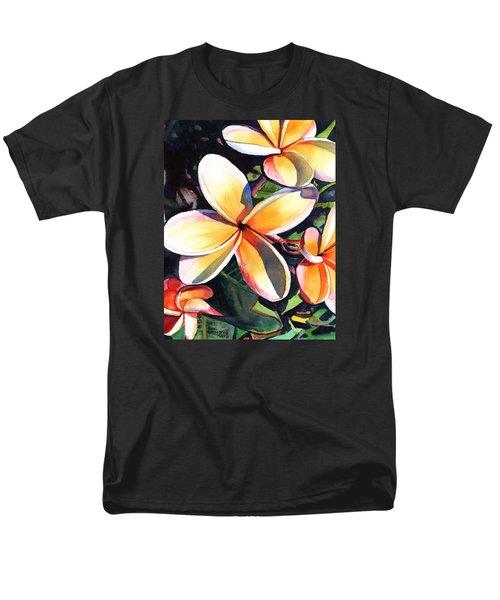 Kauai Rainbow Plumeria Men's T-Shirt  (Regular Fit) by Marionette Taboniar