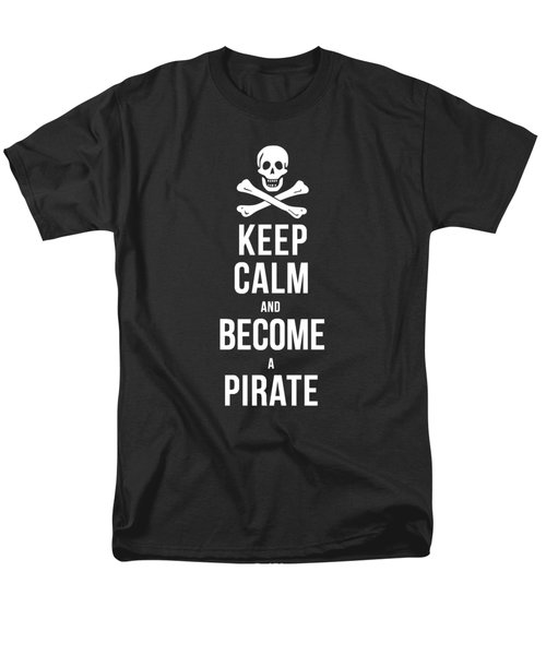 Keep Calm And Become A Pirate Tee Men's T-Shirt  (Regular Fit) by Edward Fielding