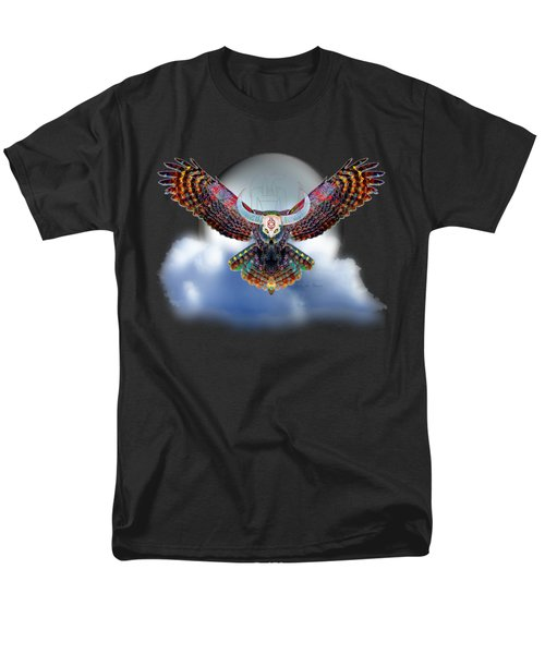 Men's T-Shirt  (Regular Fit) featuring the digital art Keeper Of The Night by Iowan Stone-Flowers