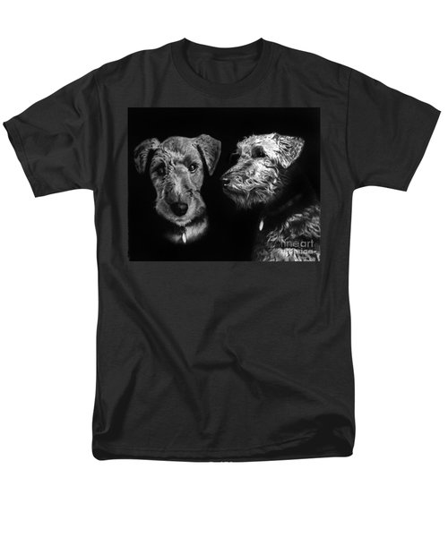 Keeper The Welsh Terrier Men's T-Shirt  (Regular Fit) by Peter Piatt