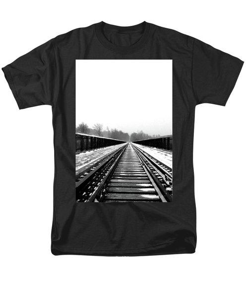 Men's T-Shirt  (Regular Fit) featuring the digital art Kinzua Bridge Skywalk by Sharon Batdorf