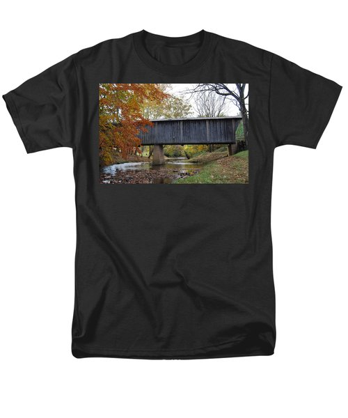 Kissing Bridge At Fall Men's T-Shirt  (Regular Fit) by Eric Liller