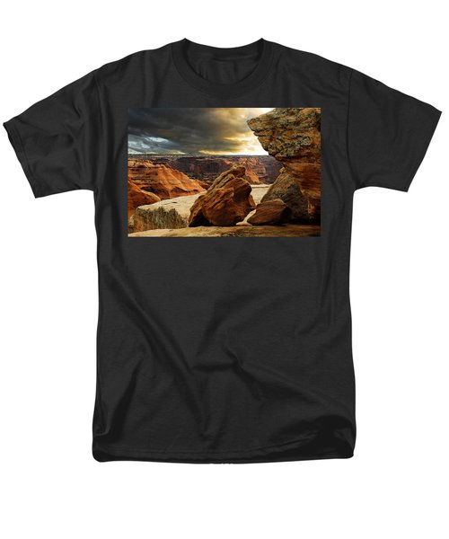 Men's T-Shirt  (Regular Fit) featuring the photograph Kissing Rocks by Harry Spitz