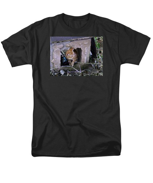 Kitten In The Junk Yard Men's T-Shirt  (Regular Fit) by Larry Capra