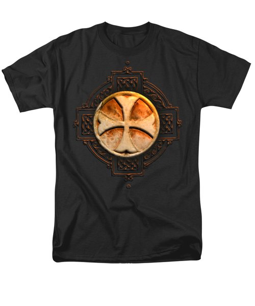 Knights Templar Symbol Re-imagined By Pierre Blanchard Men's T-Shirt  (Regular Fit) by Pierre Blanchard