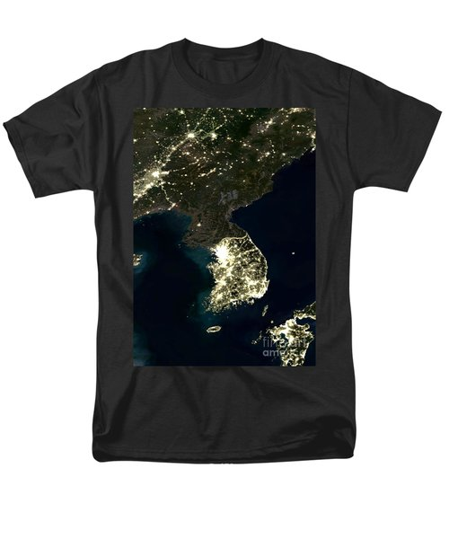 Korean Peninsula Men's T-Shirt  (Regular Fit) by Planet Observer and SPL and Photo Researchers