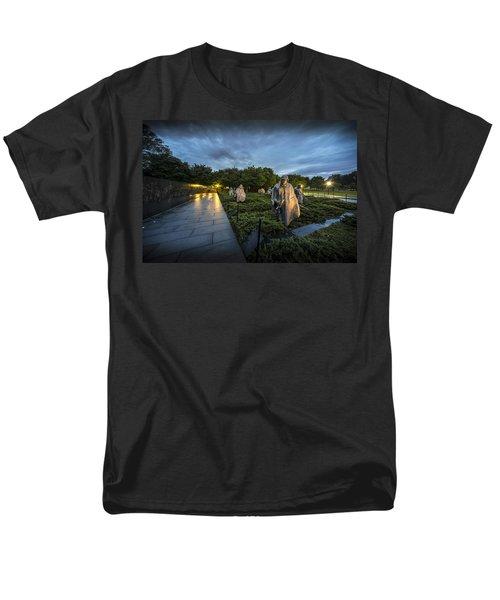 Men's T-Shirt  (Regular Fit) featuring the photograph Korean War Memorial by David Morefield