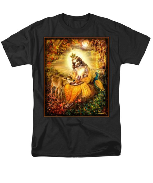 Krishna With The Calf Men's T-Shirt  (Regular Fit) by Ananda Vdovic