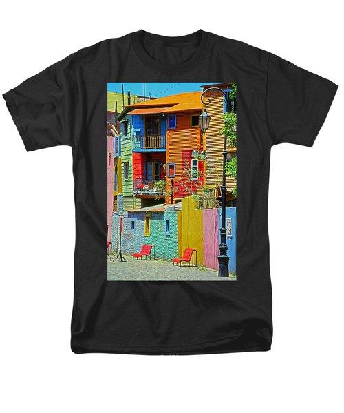 La Boca - Buenos Aires Men's T-Shirt  (Regular Fit) by Juergen Weiss