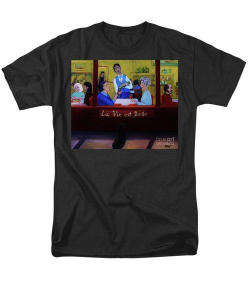 La Vie Est Belle Men's T-Shirt  (Regular Fit) by Reb Frost