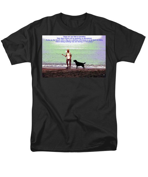 Men's T-Shirt  (Regular Fit) featuring the mixed media Labrador Retriever by Charles Shoup