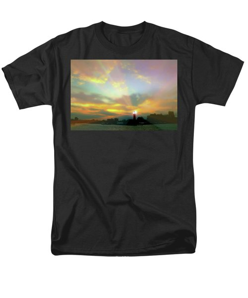 Men's T-Shirt  (Regular Fit) featuring the photograph Lackawanna Transit Sunset by Diana Angstadt