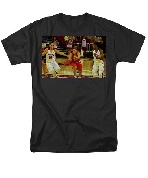 Men's T-Shirt  (Regular Fit) featuring the photograph Ladies Basketball by Debby Pueschel
