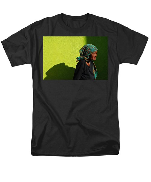 Men's T-Shirt  (Regular Fit) featuring the photograph Lady In Green by Skip Hunt