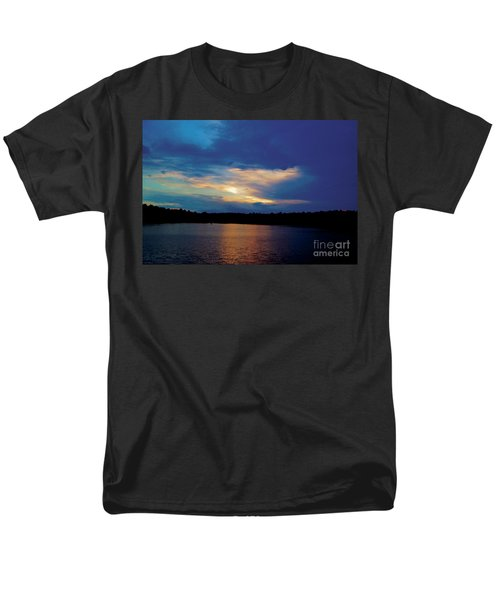 Lake Sunset Men's T-Shirt  (Regular Fit) by Debra Crank