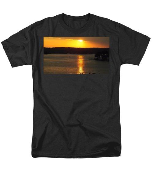 Lake Sunset  Men's T-Shirt  (Regular Fit) by Don Koester