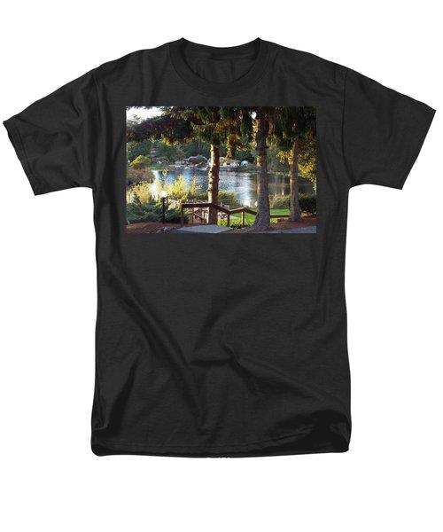 Beverly Lake View In Fall Men's T-Shirt  (Regular Fit) by Judyann Matthews