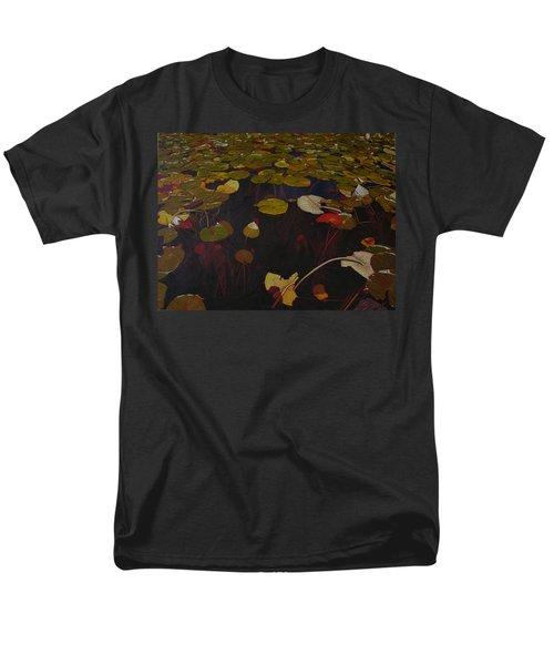 Men's T-Shirt  (Regular Fit) featuring the painting Lake Washington Lilypad 7 by Thu Nguyen